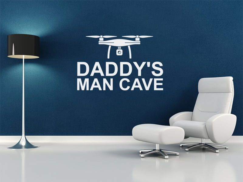 Modern Man Cave Wall Art : Daddy s man cave wall quote sticker modern decal transfer